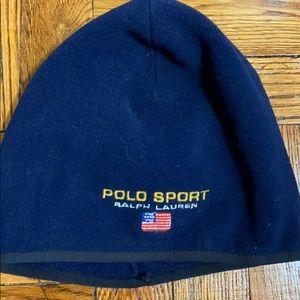 NWOT polo sport unisex navy winter hat